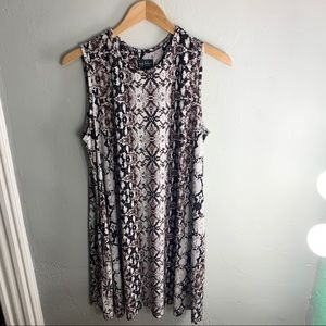 Nicole Miller Never Worn Snakeskin Flowy Dress